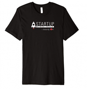 shirt with startup sioux falls powered by zeal logo